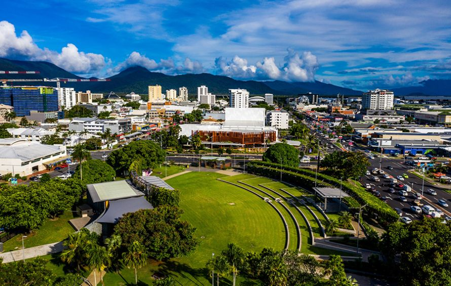 Aerial view of the Cairns Performing Arts Precinct