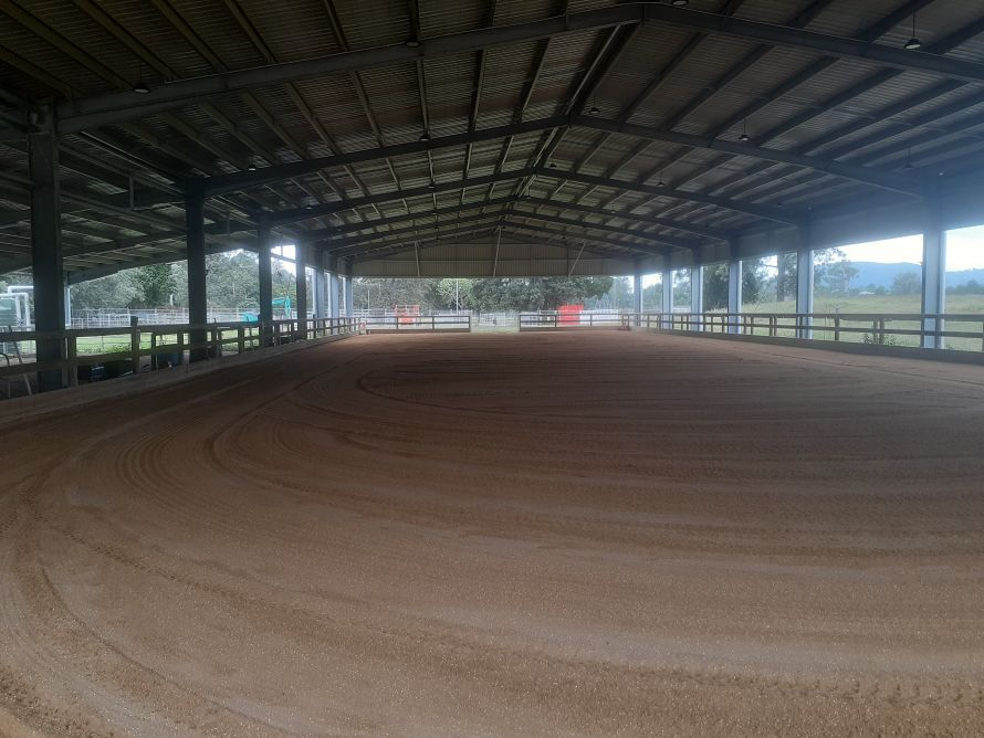 A new arena surface for Samford Riding for the Disabled Centre