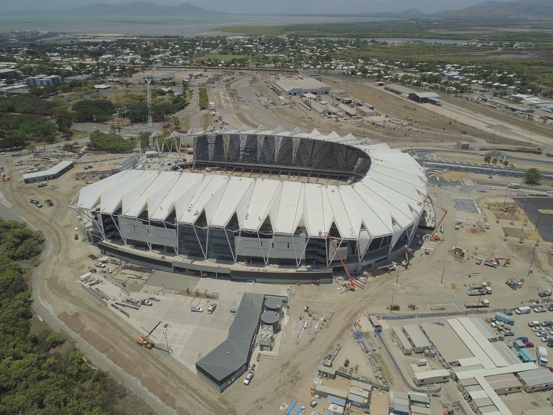 North Queensland Stadium construction as at 19 July 2019