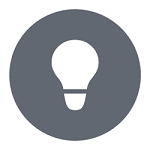 Icon of lightbulb.