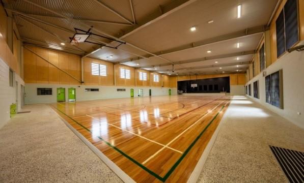 Indoor basketball court at Magregor State High School